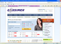 gossimer.com : Gossimer. Liberty Reserve, AlertPay and WebMoney for Domain Name and Web Hosting